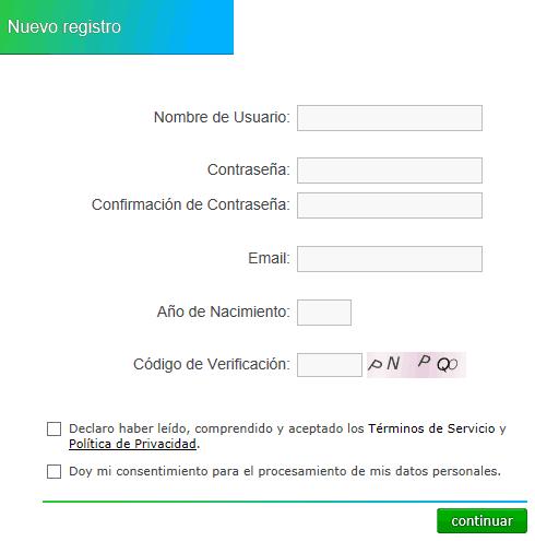 Registrarse en Neobux