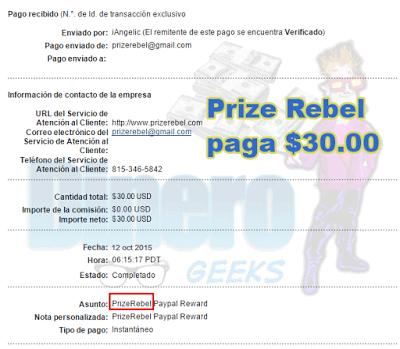 prize rebel paga