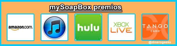 MySoapBox encuestas por regalos