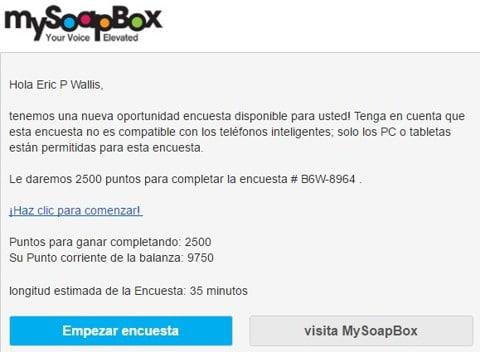 MySoapBox encuestas pagadas