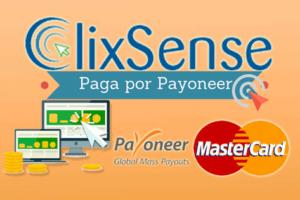 Clixsense paga por Payoneer