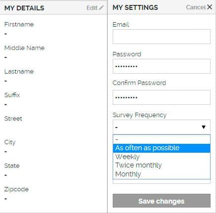 Completar el perfil en YouGov