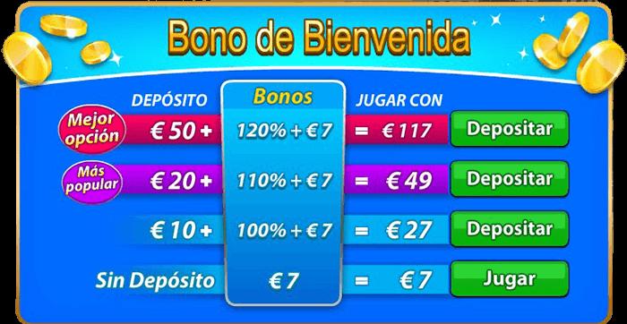 Bono de bienvenida ScratchMania 7 euros gratis