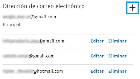 Cómo añadir correos secundarios en PayPal