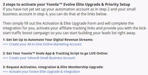 Pasos para comprar Yoonla Evolve Elite