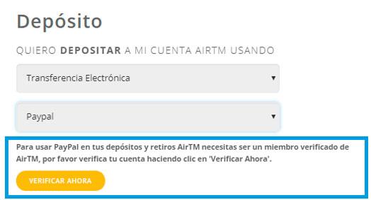 Verificar cuenta AirTM
