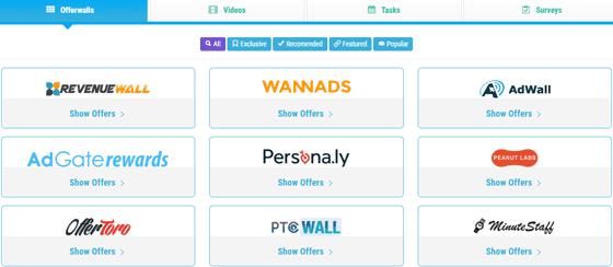 Offerwalls en PaymeDollar