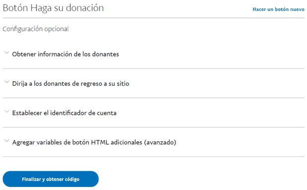 Cómo obtener código del botón PayPal