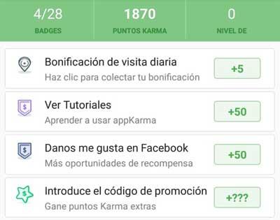 Primeros puntos en appKarma