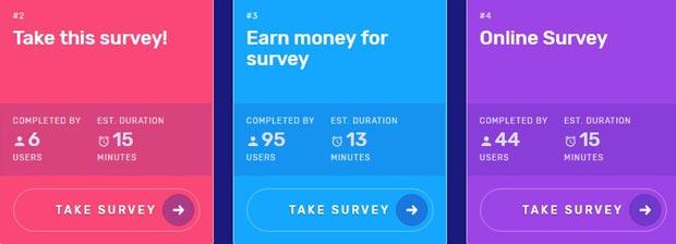 Encuestas por dinero en SurveyTime