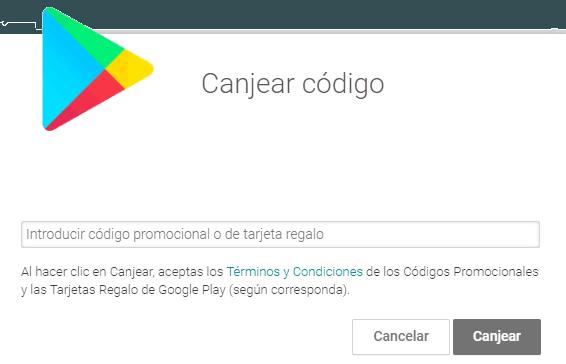 Canjear tarjeta Google Play gratis