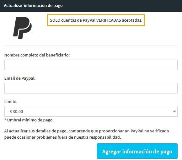 Método de pago Paidera