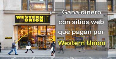 Páginas que paguen por Western Union