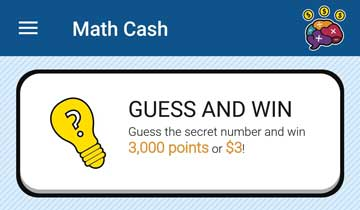 Guess and win math cash