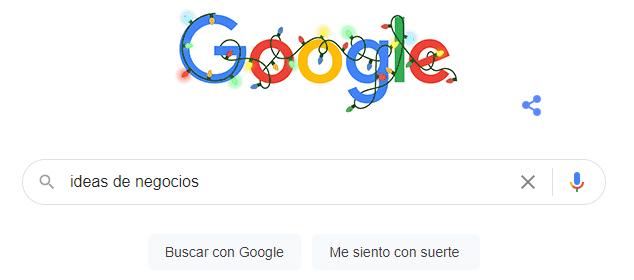 Me siento con suerte google